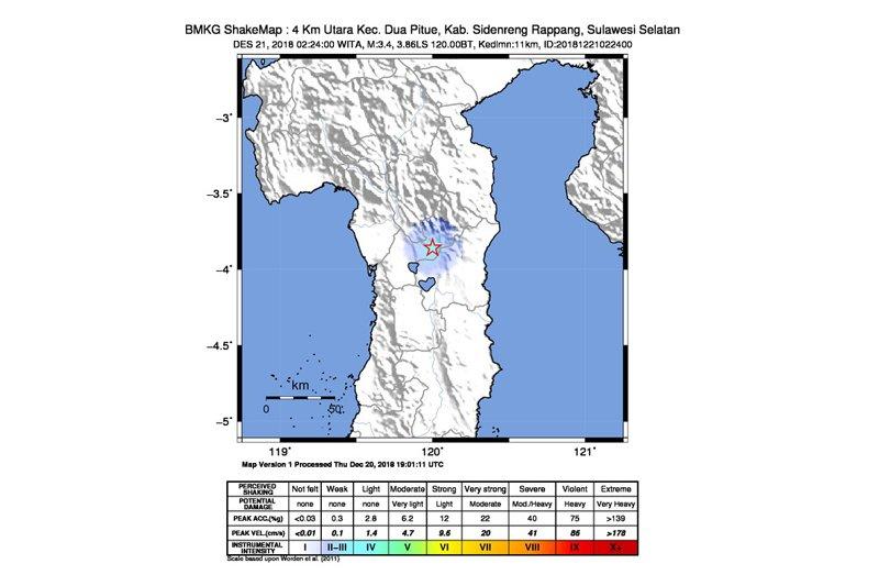 Kabupaten Mamasa diguncang gempa 4,6 magnitudo