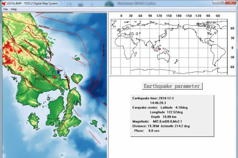 Minggu dini hari, dua gempa guncang Indonesia timur