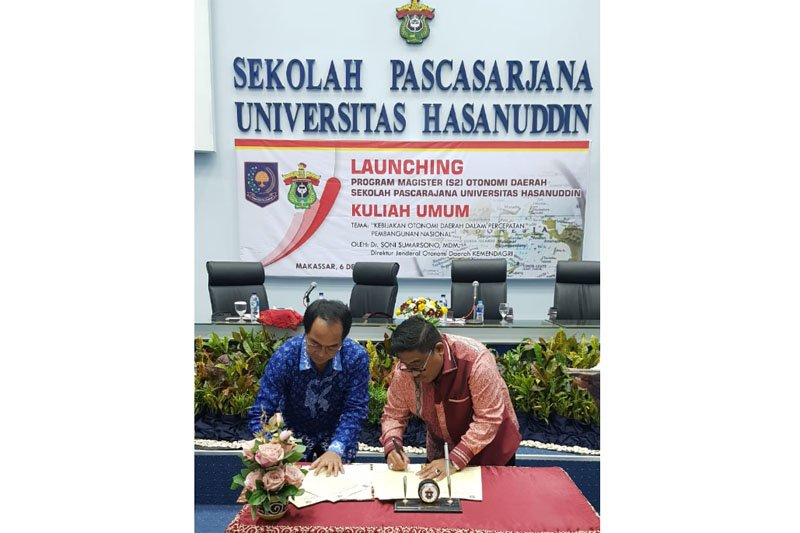 Unhas buka program magister otonomi daerah