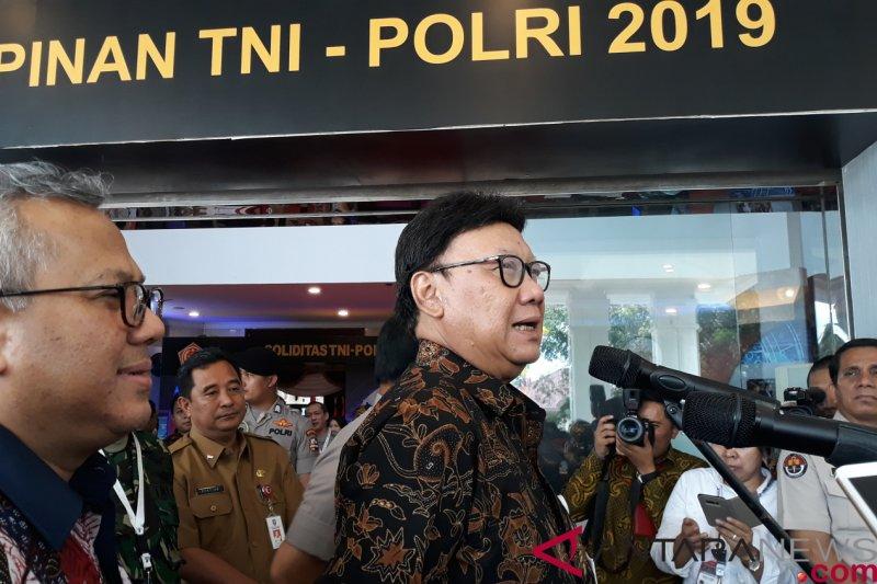 KPU sampaikan perkembangan tahapan pemilu di rapim TNI-Polri