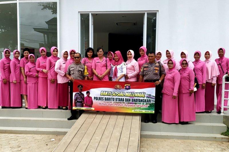 Bhayangkari Polres Barito Utara lakukan bakti sosial millennial
