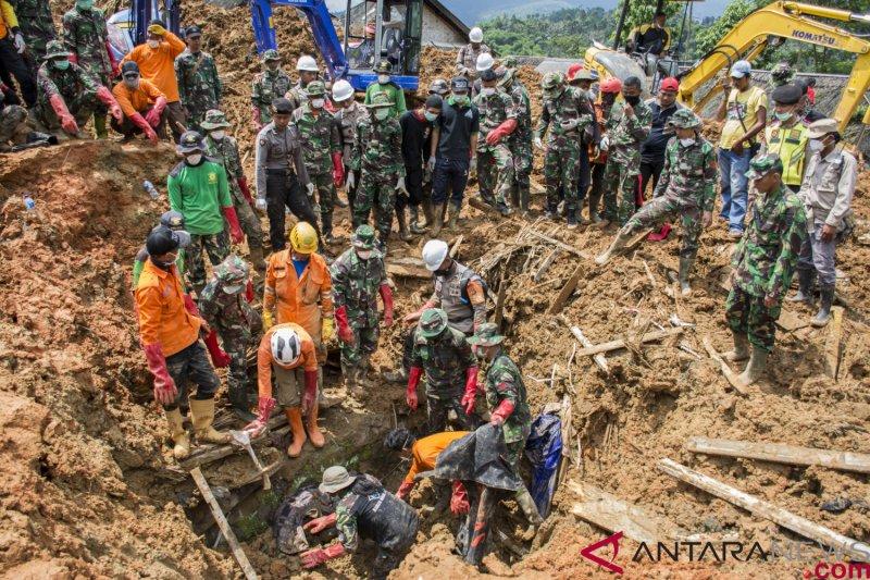 Sembilan jenazah korban longsor Sukabumi ditemukan pada hari keenam pencarian