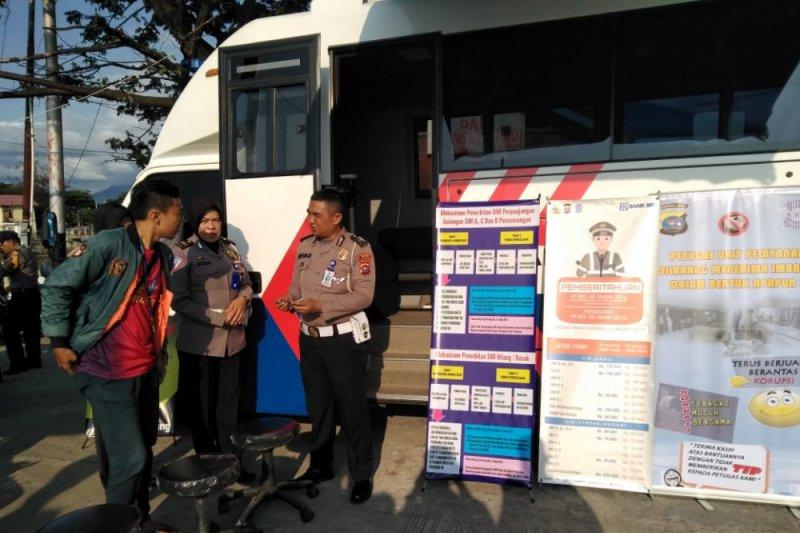 Polresta Padang sediakan layanan keliling pembuatan SKCK dan SIM setiap hari libur