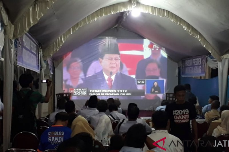 PDIP dan Gerindra Jateng gelar nonton bareng debat capres