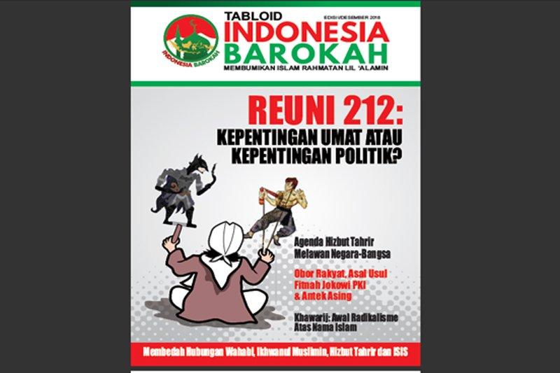 76 koli tabloid indonesia Barokah ditahan di Palembang