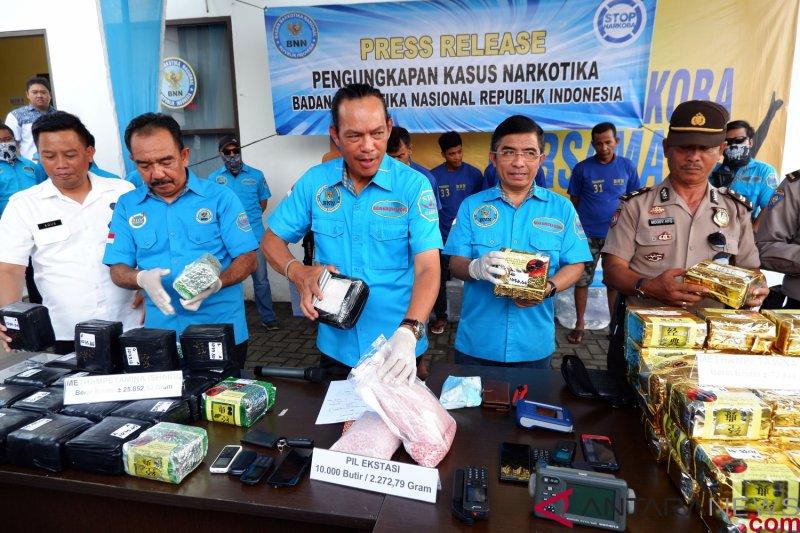 BNN: Barang bukti narkoba internasional mencapai 100 kg