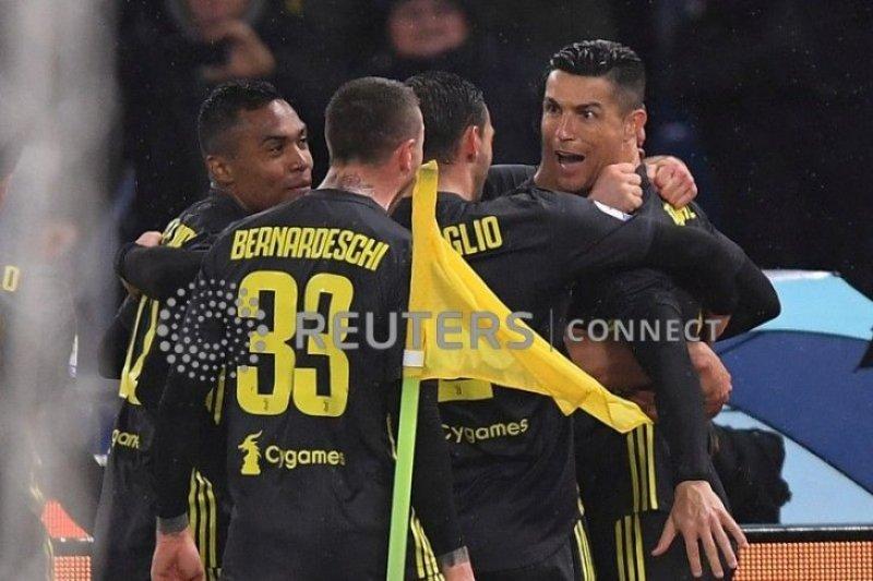 Penalti Ronaldo penghujung laga menangkan Juventus atas Lazio