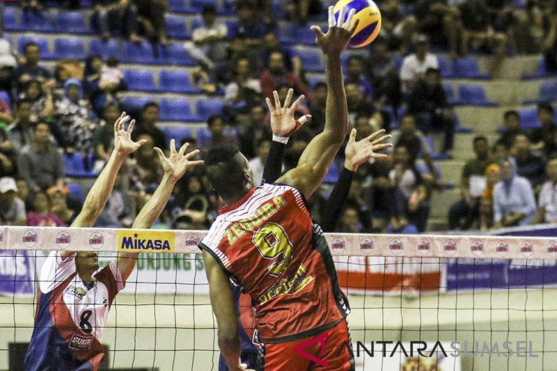 Surabaya Bhayangkara Samator melibas Bank Sumsel Babel 3-0