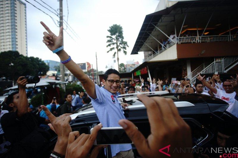 Sandiaga Uno apresiasi PDI Perjuangan kirim karangan bunga selamat