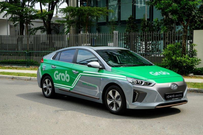 Grab Singapura gunakan mobil listrik Hyundai Kona