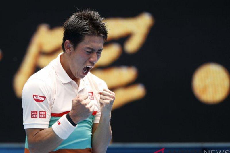 Nishikori lolos ke putaran tiga Australia Terbuka