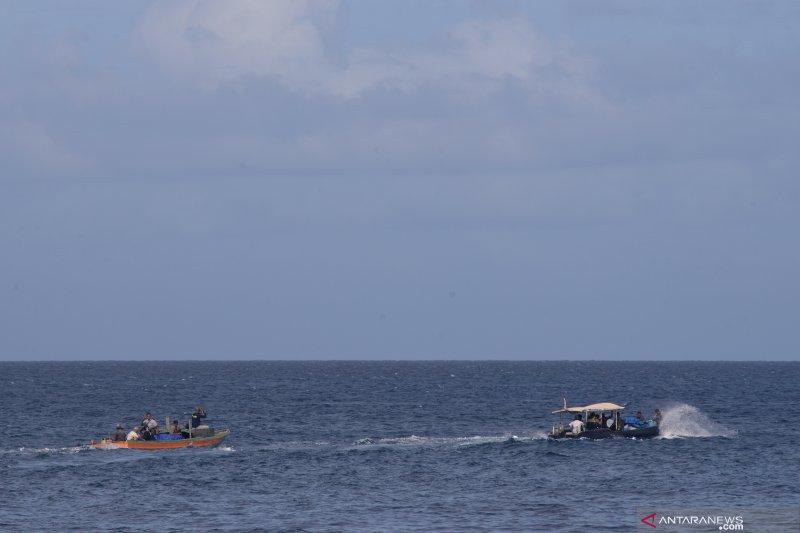 Tabrakan perahu motor  terjadi di perairan Supiori