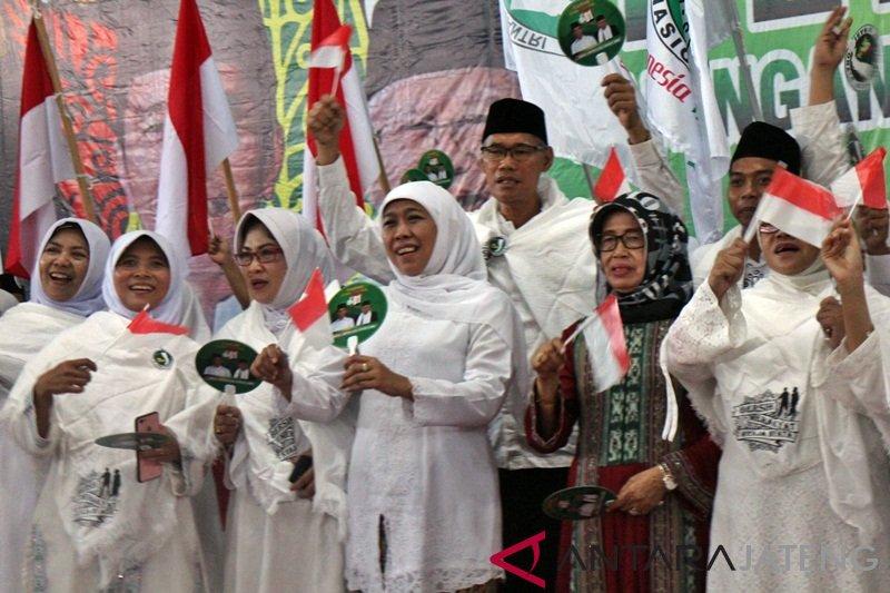 Ribuan kiai-santri deklarasi pemenangan Jokowi-Ma'ruf