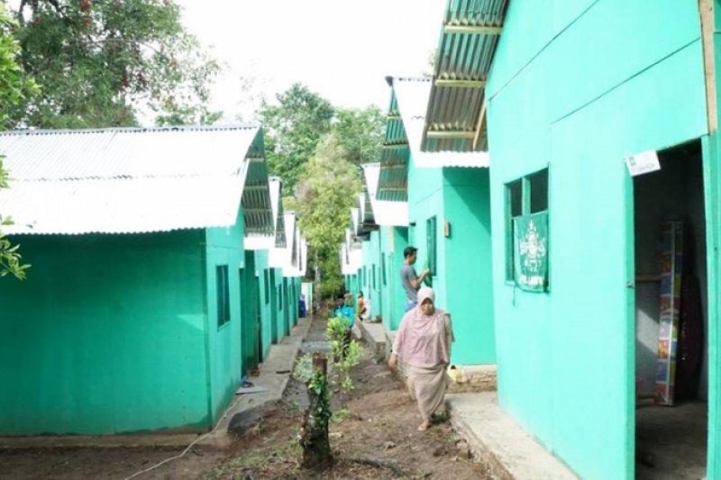 NU Peduli Tsunami Lampung Selatan Selesaikan Pembangunan Hunian Sementara