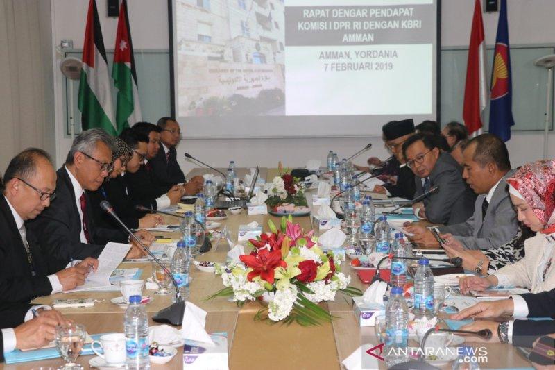 DPR RI minta KBRI Amman terus suarakan dukungan bagi kemerdekaan Palestina