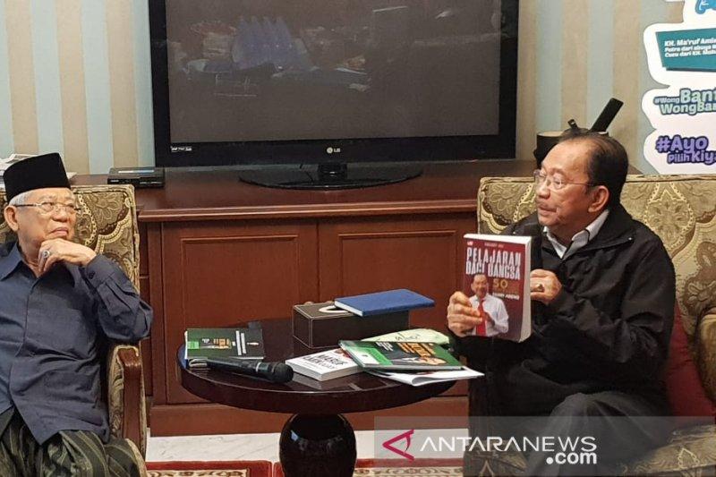 Ma'ruf Amin dan Tanri Abeng diskusi kemajuan pembangunan