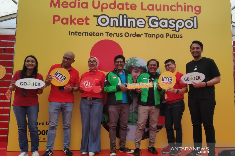 GOJEK-IM3 Ooredoo hadirkan paket internet murah untuk driver