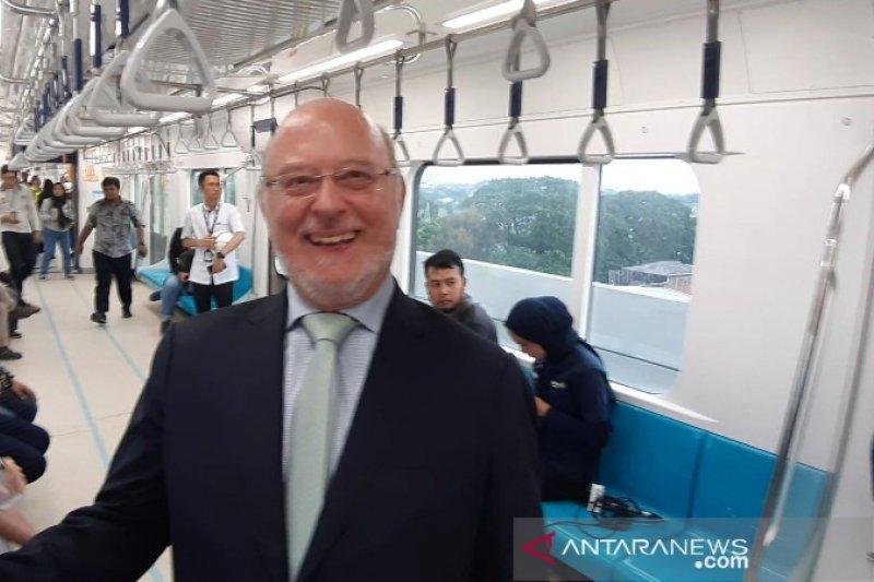 Dubes Belgia: MRT buat masyarakat terbiasa gunakan transportasi publik