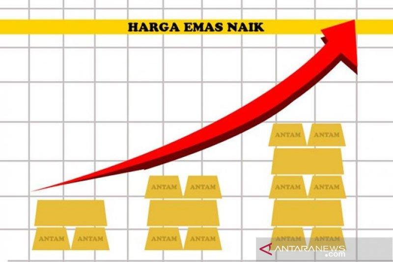 Harga emas berjangka melonjak melebih satu persen