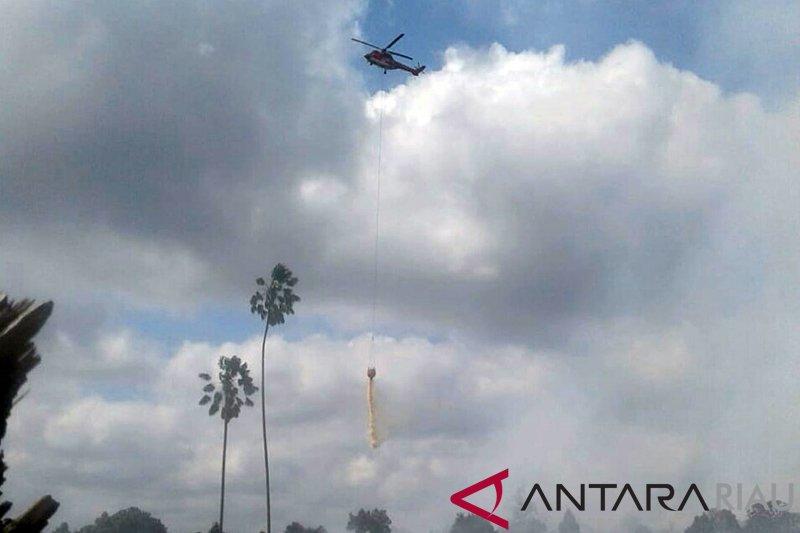 Helikopter Super Puma Bantu Pemadaman Karhutla Bengkalis