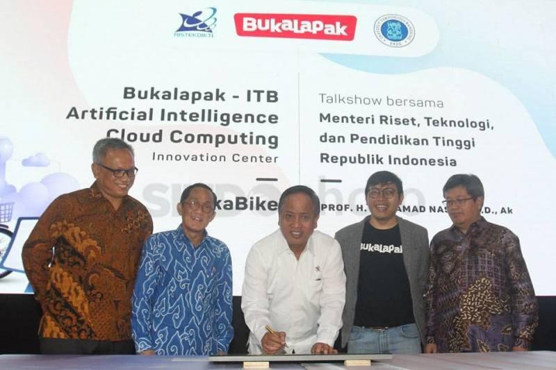 ITB kerjasama dengan Bukalapak resmikan pusat AI dan cloud compunting
