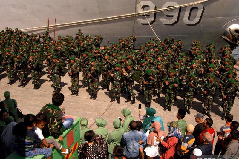 600 prajurit Kostrad asal Makassar, tiba di Papua
