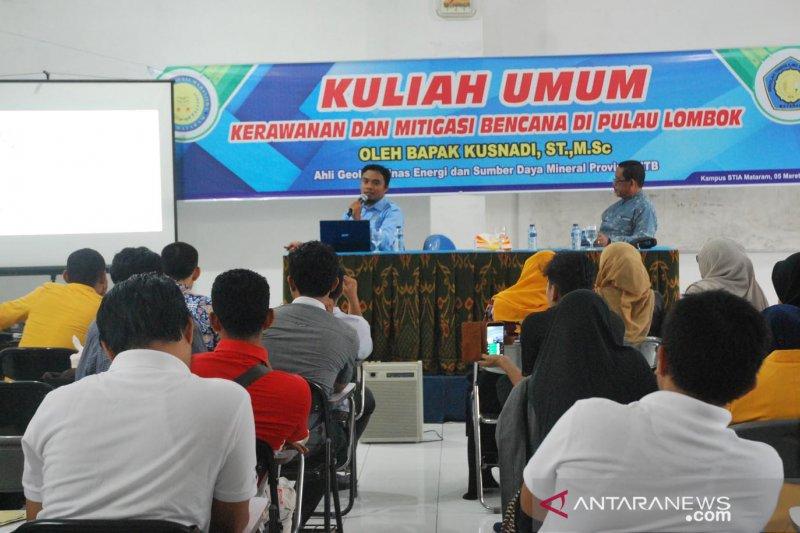 IAGI edukasi mahasiswa STIA Mataram tentang kebencanaan