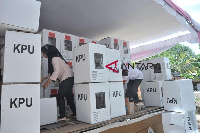 Kotak suara tambahan KPU Palembang