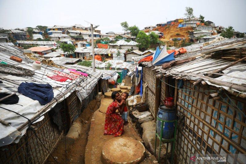 Kamp pengungsi Rohinya di Bangladesh selatan terbakar