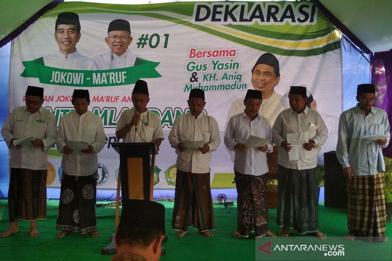 """Relawan santri """"mlandang"""" Jepara deklarasi dukung Jokowi-Ma'ruf"""