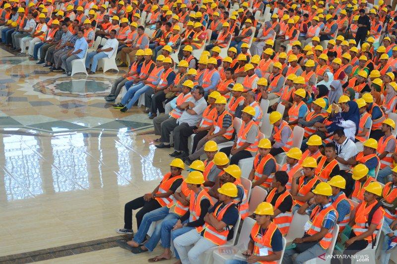 Uji sertifikasi pekerJa konstruksi di Aceh