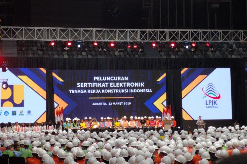 Indonesia miliki 616.000 pekerja konstruksi bersertifikat