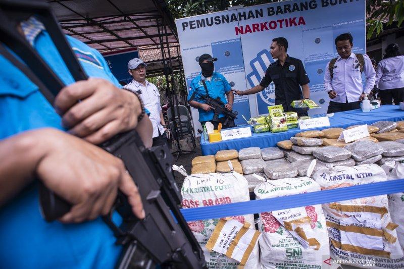 BNN musnahkan 1,3 ton barang bukti narkotika