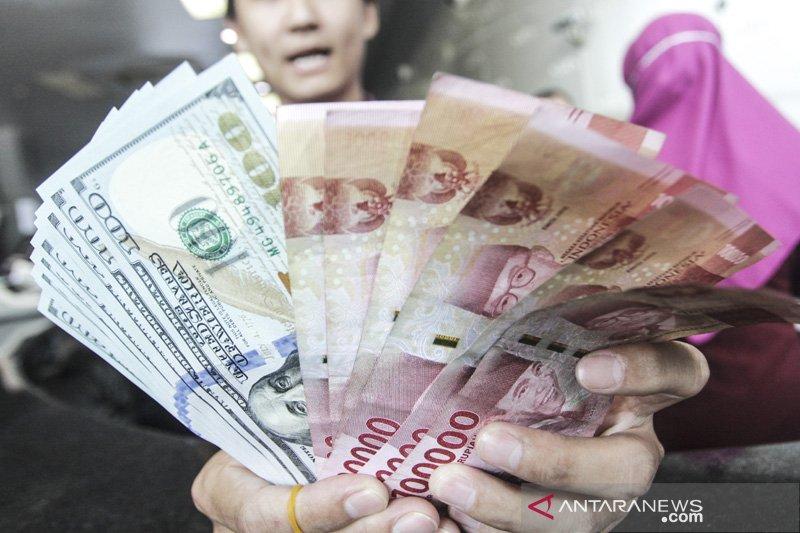 Kurs rupiah bergerak melemah 0,04 persen