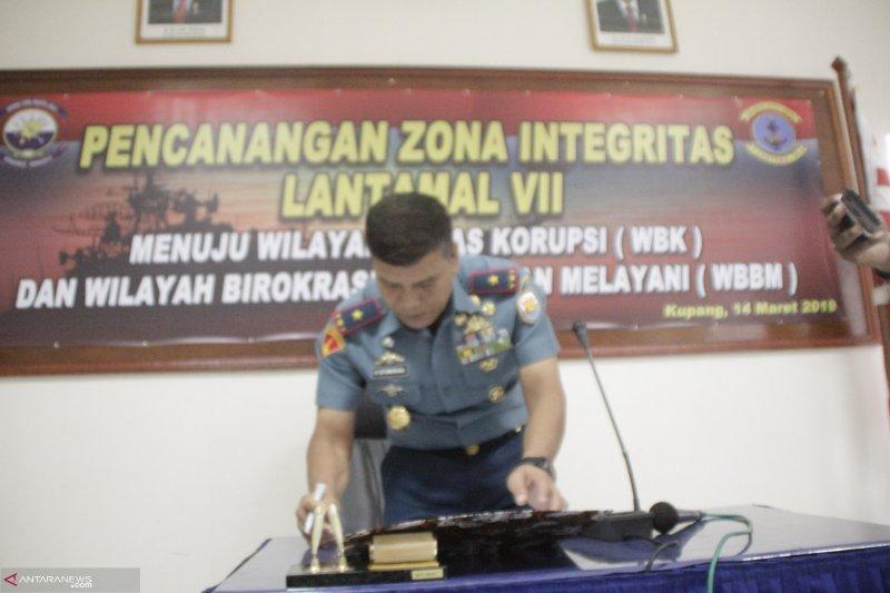 Lantamal VII Kupang canangkan zona integritas bebas korupsi