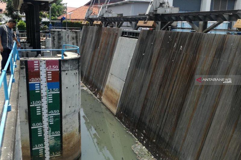 Pintu Air Pasar Ikan di Jakarta Utara Siaga II