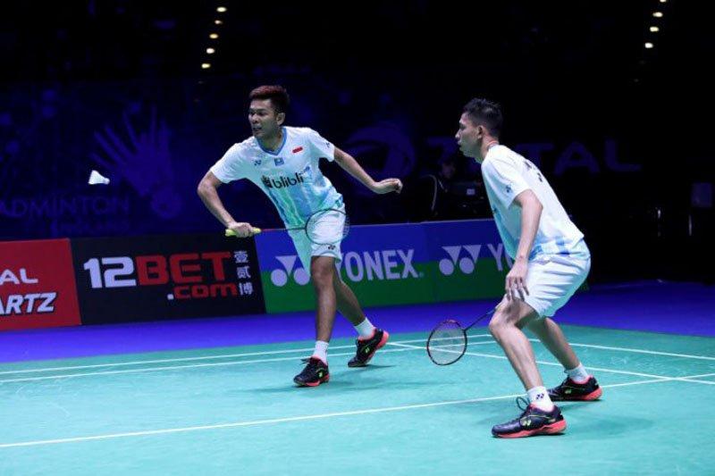 Kalahkan Wahyu/Ade, Fajar/Rian lolos ke semifinal Swiss Terbuka