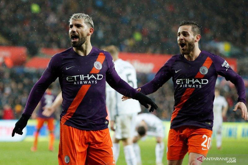Kesiapan Sergio Aguero perkuat City hadapi Tottenham