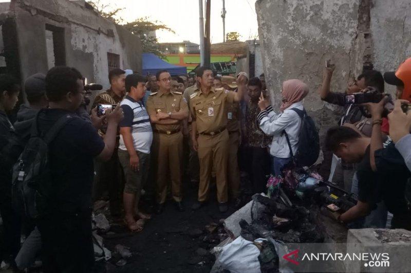 Anies kunjungi korban musibah kebakaran di Krukut