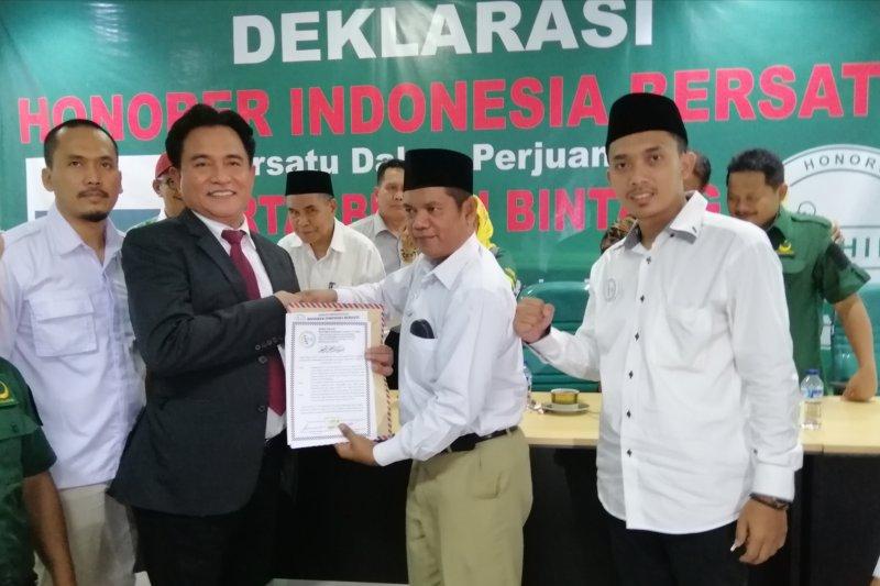 Tenaga honorer deklarasikan mendukung Partai Bulan Bintang
