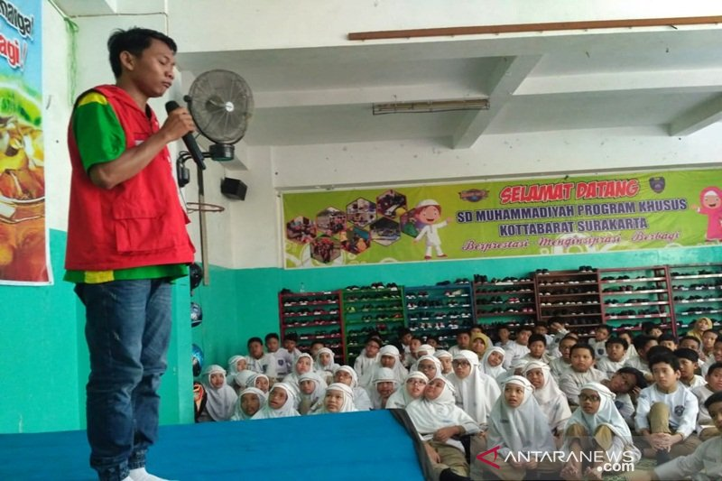 Siswa SD Muhammadiyah Kottabarat galang dana korban bencana