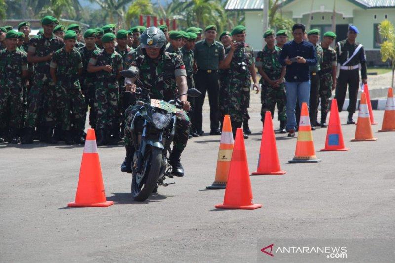 Korem 133/Nani Wartabone Gorontalo uji petik keselamatan berkendara