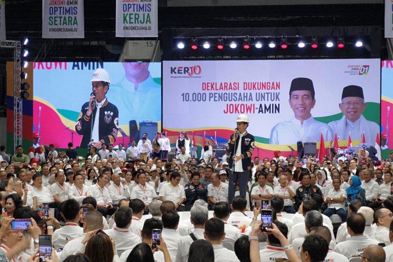 Jokowi hadiri deklarasi dukungan pengusaha untuk Jokowi-Maruf