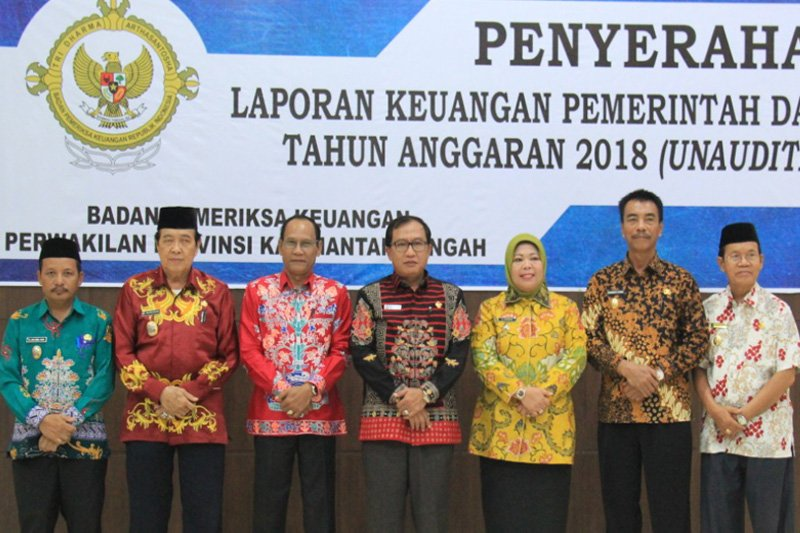 Enam kabupaten di Kalteng serahkan LKPD ke BPK RI