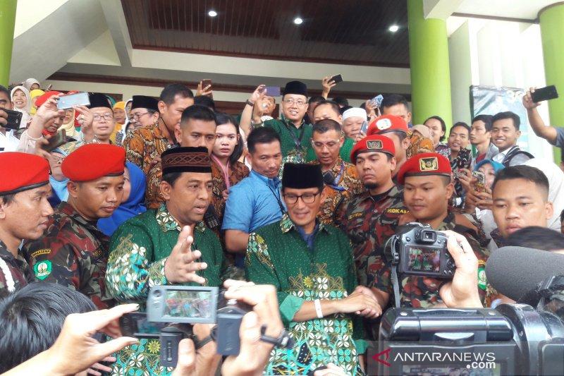 Sandiaga berkomitmen gandeng Muhammadiyah majukan ekonomi bangsa