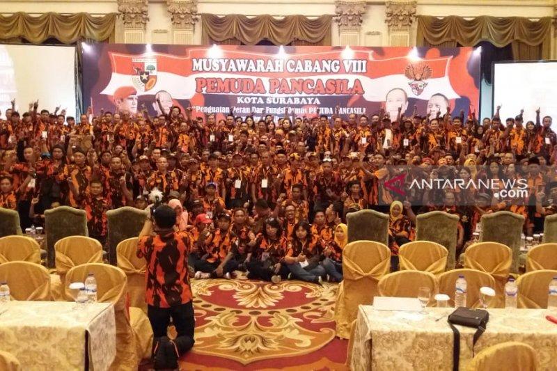 Haries Purwoko kembali pimpin Pemuda Pancasila Surabaya