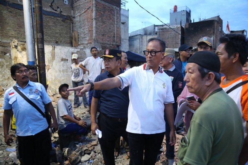 Pemerintah bantu pembangunan kembali rumah korban kebakaran Krukut