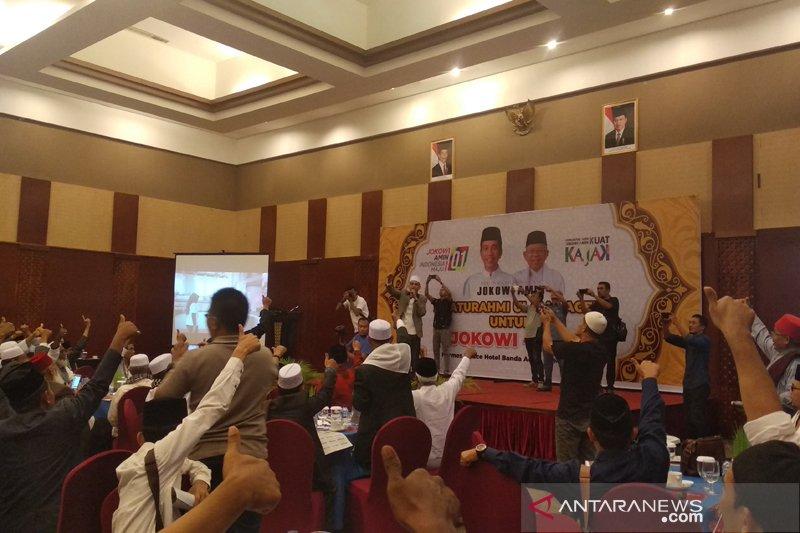 Ulama Aceh Deklarasi Dukung Jokowi-Ma'ruf Amin