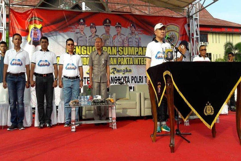 Ribuan peserta ikuti seleksi anggota Polri di Kalteng