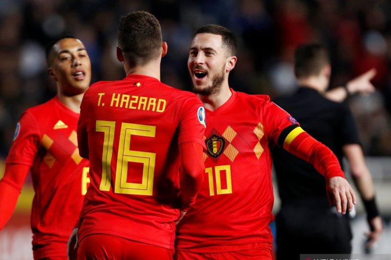 Hazard cetak sejarah usai Belgia bekuk Siprus 2-0